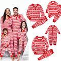 Familia Pijama A Juego Niños Madre Padre Navidad de Manga Larga pijamas ropa de Dormir Pijamas