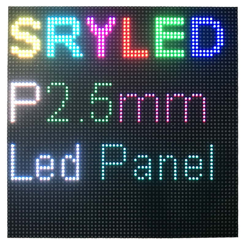 64x64 Pixels Indoor P2.5 Led Display Module Matrix HD Led Panel 160mm X 160mm