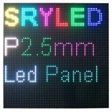 Painel led matrix hd 64 pixels, módulo de display led p2.5 160mm x 160mm