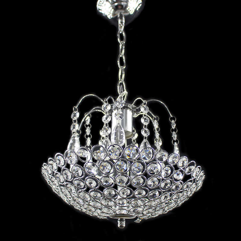 Iron crystal American style Modern Chandeliers E27 retro luster Chandelier vintage LED Lighting for living room kitchen bedside