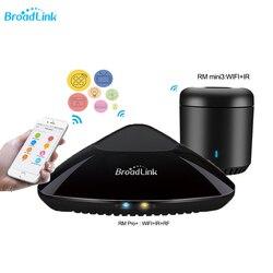 2019 Broadlink rm pro +/RM mini3/rm 4c mini smart domowy przełącznik WiFi/IR/RF bezprzewodowy pilot zdalnego sterowania współpracuje z Alexa Google domu w Moduły automatyki domowej od Elektronika użytkowa na