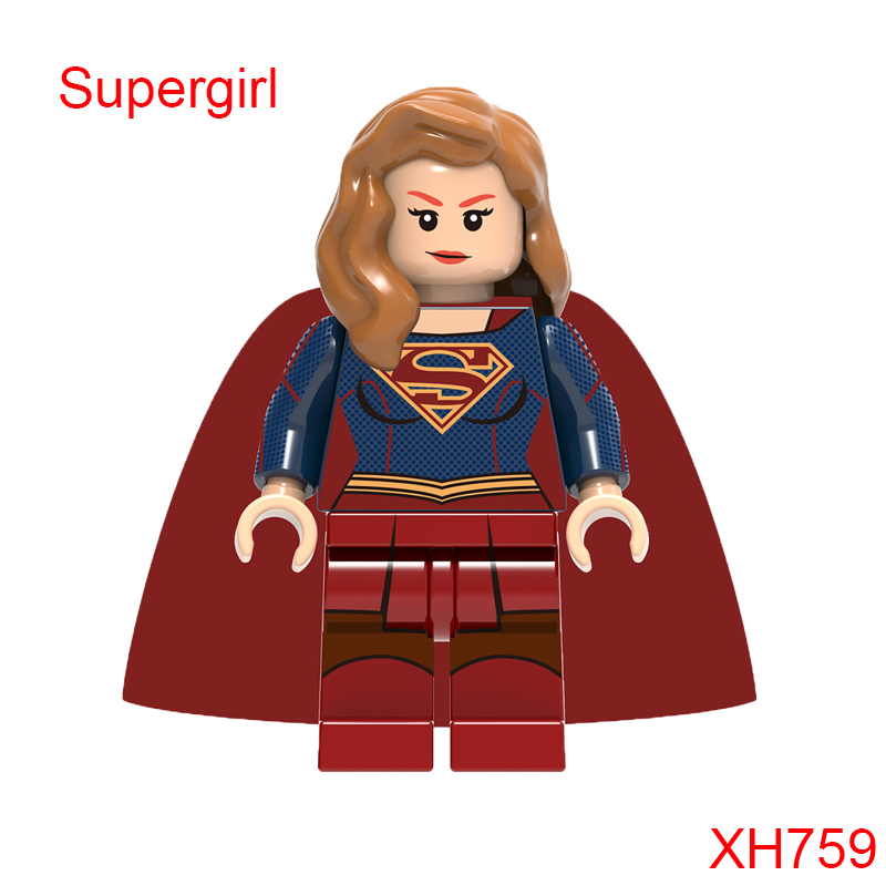 Supergirl Mini Doll Super Heroes Doll Figure Star Wars Building Block Diy Toys For Children Single Sale Xh759 hot sale 1000g dynamic amazing diy educational toys no mess indoor magic play sand children toys mars space sand