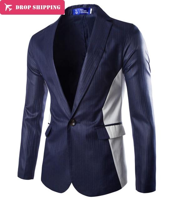 Chaqueta Americana Hombre Doudoune Homme Men Slim Suits Formal Stylish Male New Full Sleeve Business Blazer Freeshiping ,gx563