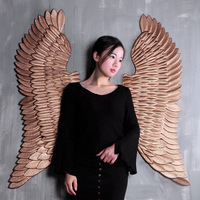 3D Vintage Iron Wall Decorations Angel Wings Art Design Bar Cafe Internet Cafe Wall Mural Decorations