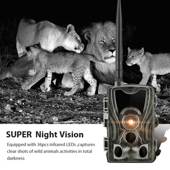 2G MMS SMS  SMTP Trail Wildlife Camera 20MP 1080P Night Vision Cellular Mobile Hunting Cameras HC801M Wireless Photo Trap 6