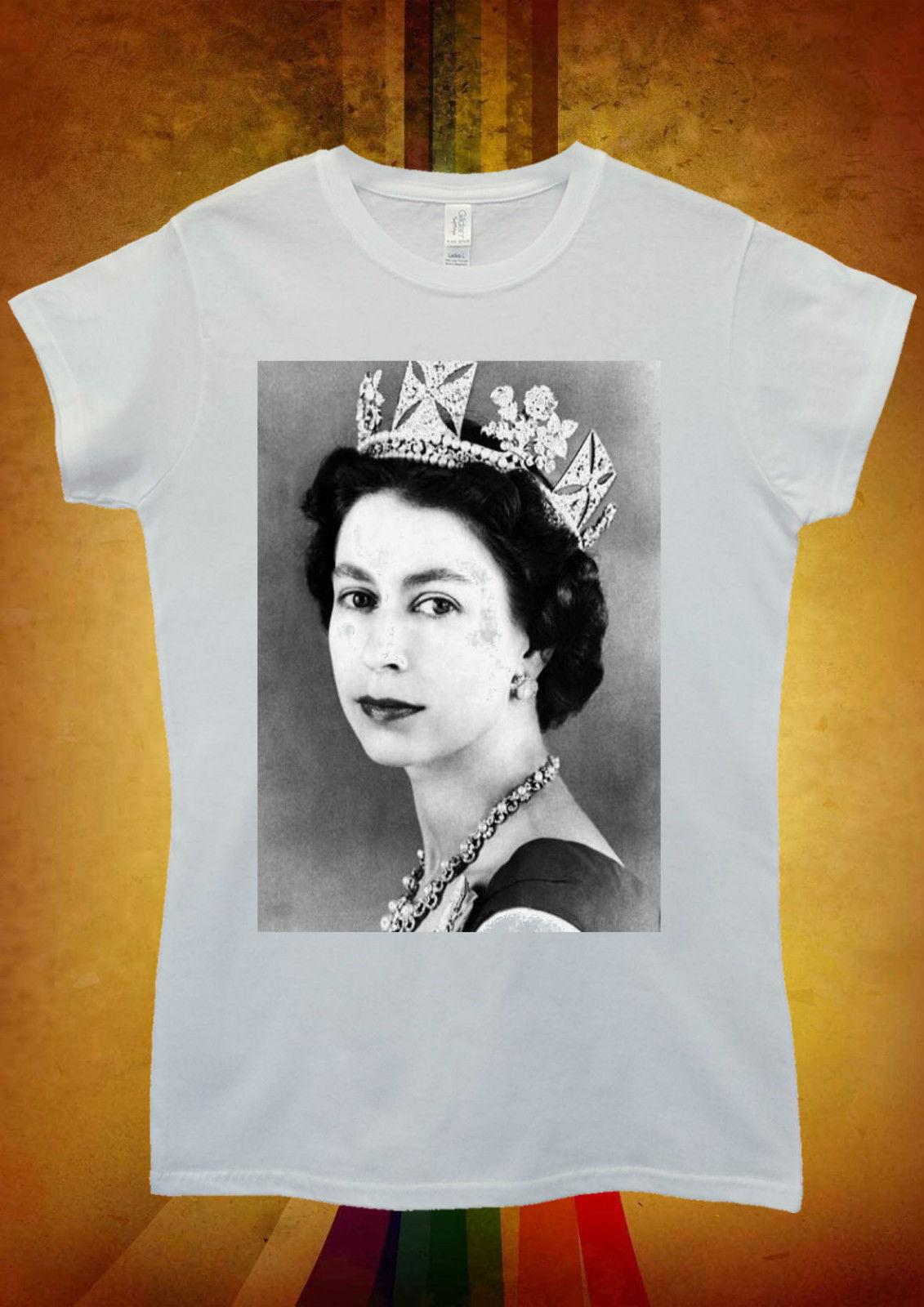 Her Majesty the Queen Elizabeth II Men Women Unisex T Shirt Top Vest 1217 New T Shirts Funny Tops Tee New Unisex Funny Tops in T Shirts from Men 39 s Clothing