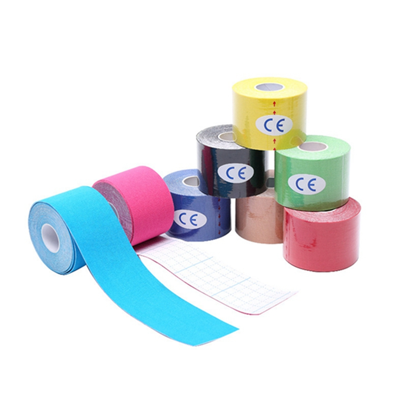 Tape Cotton Kinesiology Sports Tape Latex Free  Breathable, Therapeutic Tape  Pro & Olympic Choice 5cm*5m