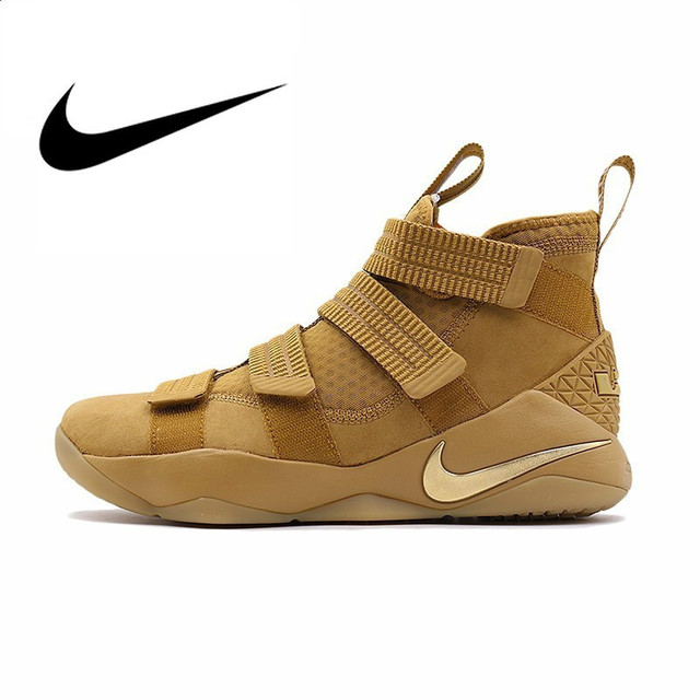 Original Authentic NIKE New Men's Basketball Shoes Lebron Soldier Sport Breathable Outdoor Comfortable Sneakers New 897647-700