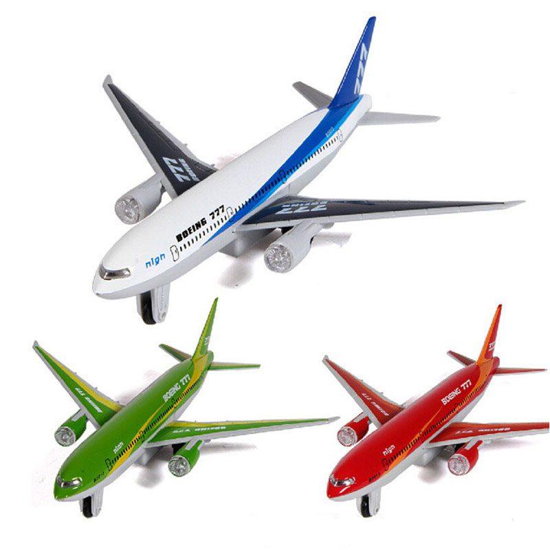 Alloy Diecast Boeing Plane Airbus Transport Container Truck Pull Back Action Light&Sound Aircraft Model Kids Hobby Toys image