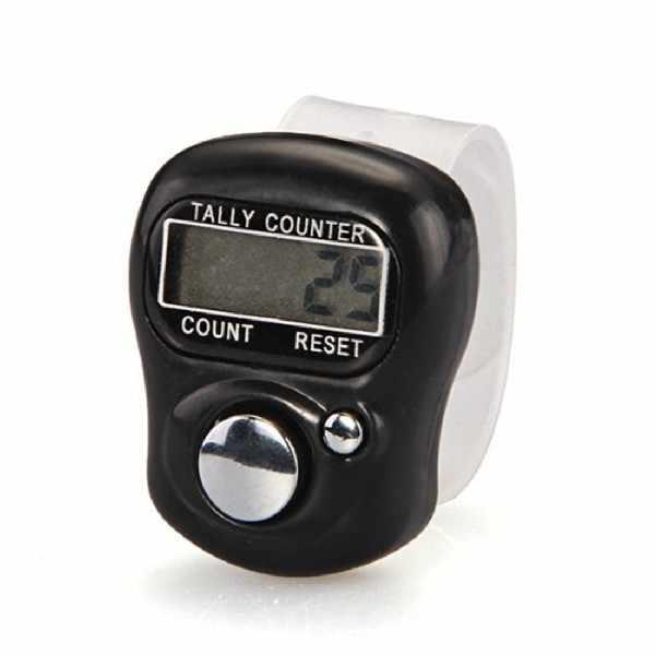 1 ud. Bonito marcador de Punto y Contador de fila LCD anillo de dedo Digital contador temporizador
