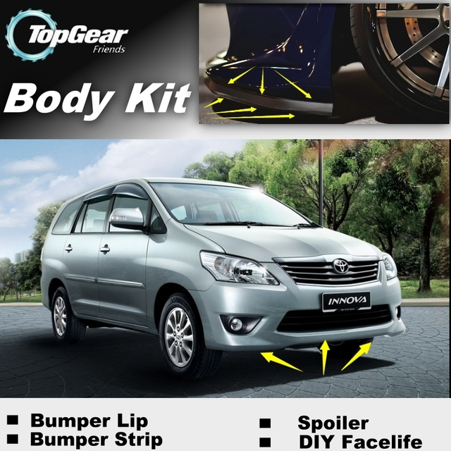 bodykit all new kijang innova gambar grand veloz for toyota 2004 2015 front bumper lip spoiler top gear fans to cars tuning topgear body kit strip skirt