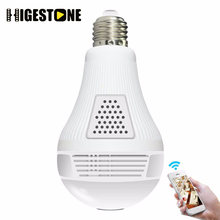 Higestone HD IP Camera Smart LED Lights Panoramic 360 VR 1.3MP 2.0MP 3.0MP-960 1080 Wifi Security Light Bulb Video Cameras(China)