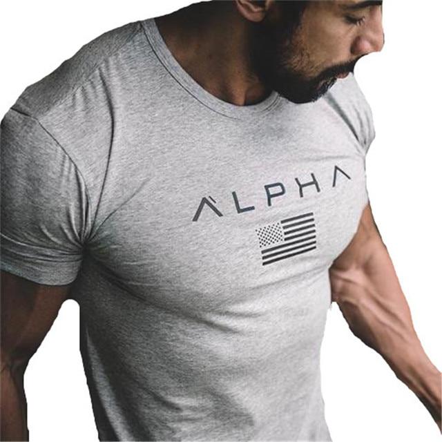 Gyms camiseta Crossfit marca ropa Fitness manga corta Camiseta Hip Hop MMA camiseta  Bodybuilding Rashguard entrenamiento c47fd6eabe1c4