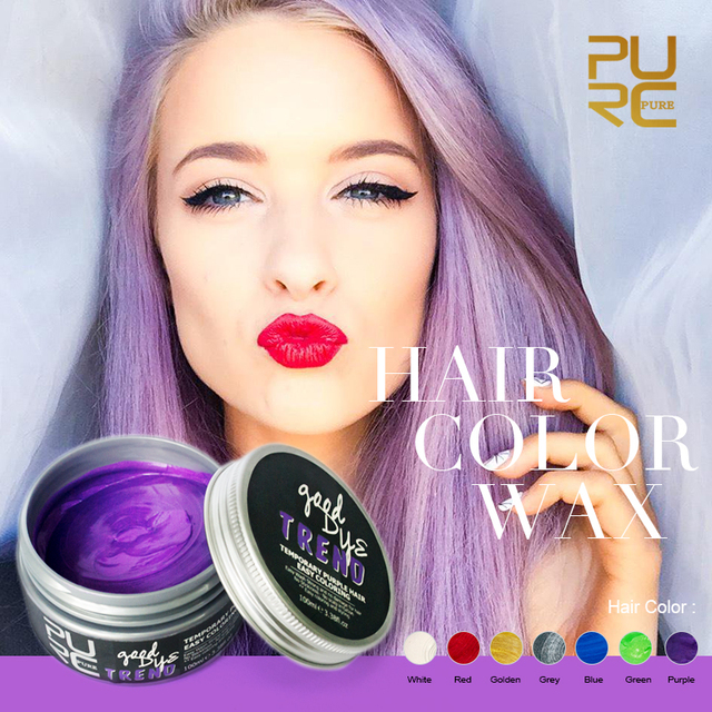 PURC Styling Products Temporary Hair dye One time hair wax Seven ...