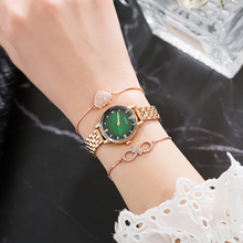 New Bracelet Watches sets women fashion smart wrist watches with 2 Pcs chain jewelry bracelet with gift watch box Top hot sale все цены