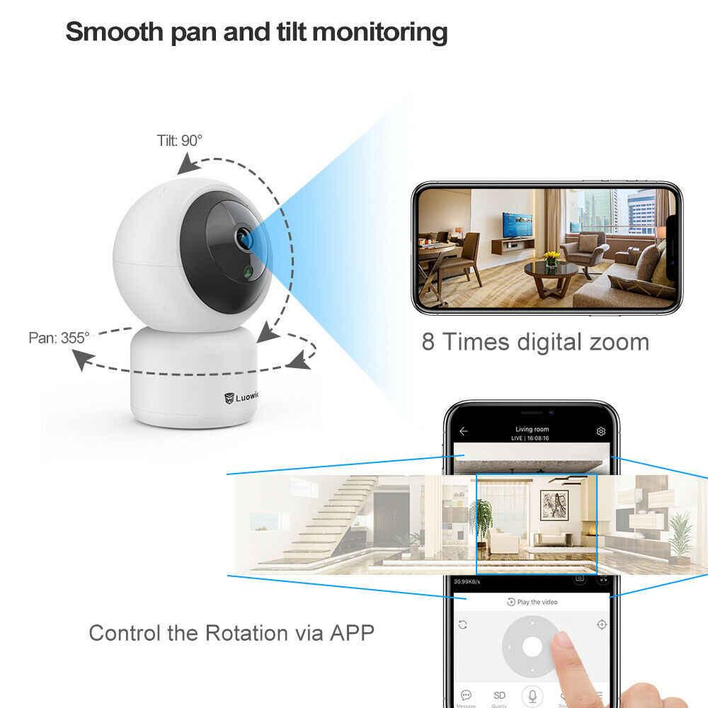 WiFi ip-камера 1080 P автоматическое отслеживание Беспроводной Детский Монитор 720 P IR 10 M ночного видения Облачное хранилище Wi-Fi PTZ IP камера P2P приложение для просмотра