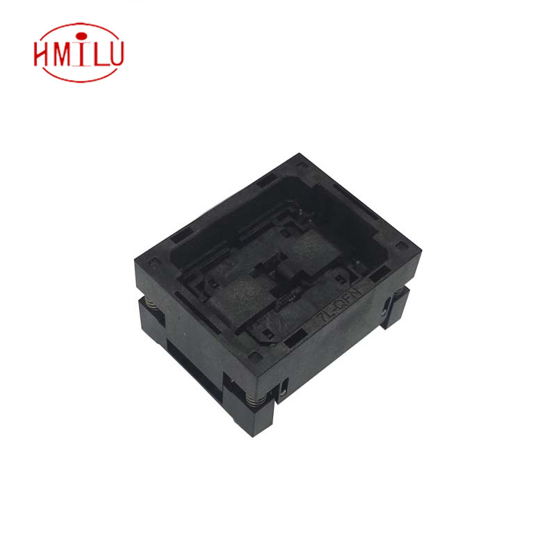QFN44 MLF44 WLCSP44 Burn in Socket Pin Pitch 0.4mm IC Body Size 6*6mm OPEN TOP Flash Test Socket Adapter QFN44 burn-in socket qfn44 mlf44 wlcsp44 burn in socket pin pitch 0 4mm ic body size 6 6mm open top flash test socket adapter qfn44 burn in socket