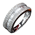 0.5CTTW Elegant Band Natural Diamond Engagement Wedding Band Rings 18K White Gold Anniversary Proposal Ring For Women  Jewelry