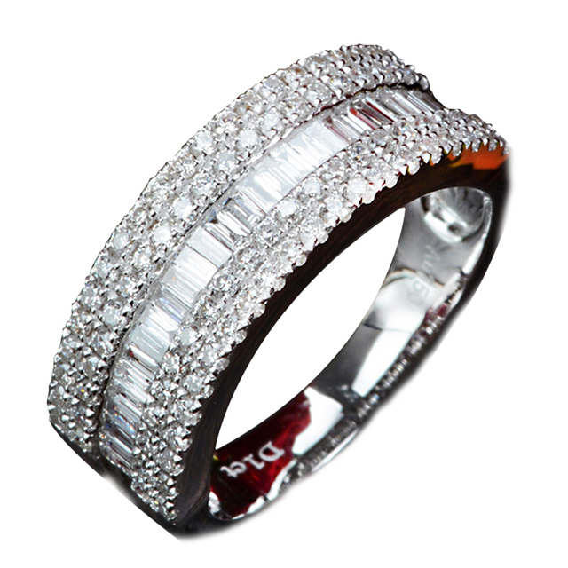 0.5CT Diamond 18K White Gold Wedding Engagement Ring