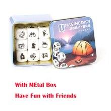 9 шт./лот! История паззл с игральными кубиками куб игра рассказ кубики акриловые кости для семьи веселвечерние Вечеринка настольные игры для малыша подарок