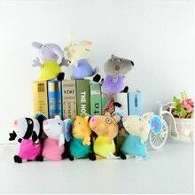 Original Brand 4Pcs/set Peppa Pig Stuffed Plush Toy 19/30cm George Family Party Dolls Childrens birthday present