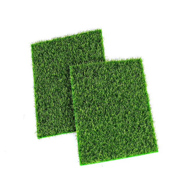 Micro Landscape Decoration DIY Mini Fairy Garden Simulation Plants Artificial Fake Moss Decorative Lawn Turf Green Grass 15x15CM