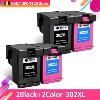 QSYRAINBOW  Ink Cartridges Cartridge Remanufactured For HP 302 XL HP302 HP302XL 302XL Envy 4520 4522 4523 4524 Inkjet Printer hp envy 120 e all in one inkjet printer copier sc