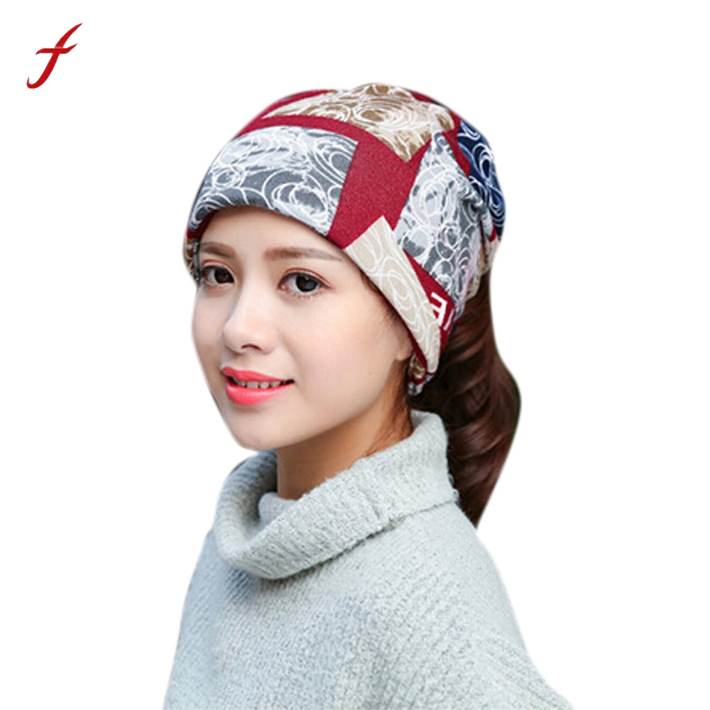 Women Stretchy Printing Turban Head Wrap Band Chemo Hat Bandana Pleated Caps female cap Hats For Women Autumn Fashion 2017 womensdate 19 color indian cap for women turban hats women s head wrap band hat beanies stretchy chemo bandana hijab 1pcs