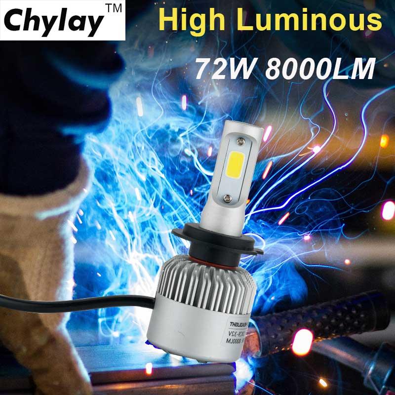 Īpaši spilgti LED automašīnu lukturu H7 spuldze 6500k Auto - Auto lukturi - Foto 5