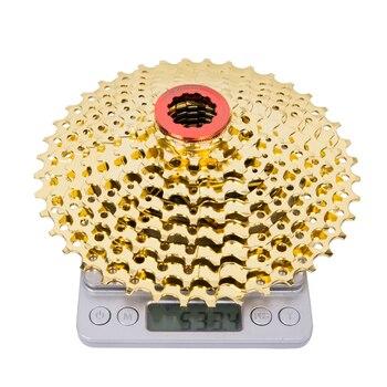 MTB 9 s Cassette oro 11-40 t bicicleta de montaña piezas 27 s rueda libre velocidad oro RATIO compatible para M430 M4000 barato