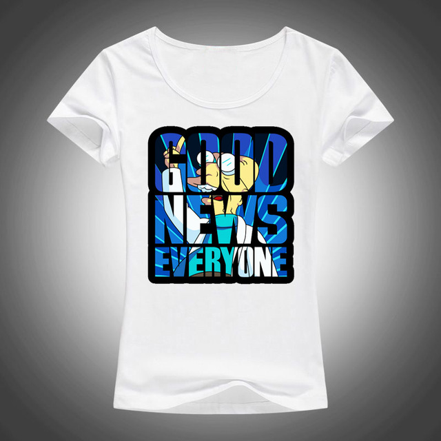 2018 summer letters good news everyone sticker print t shirt women tops tees short sleeve t