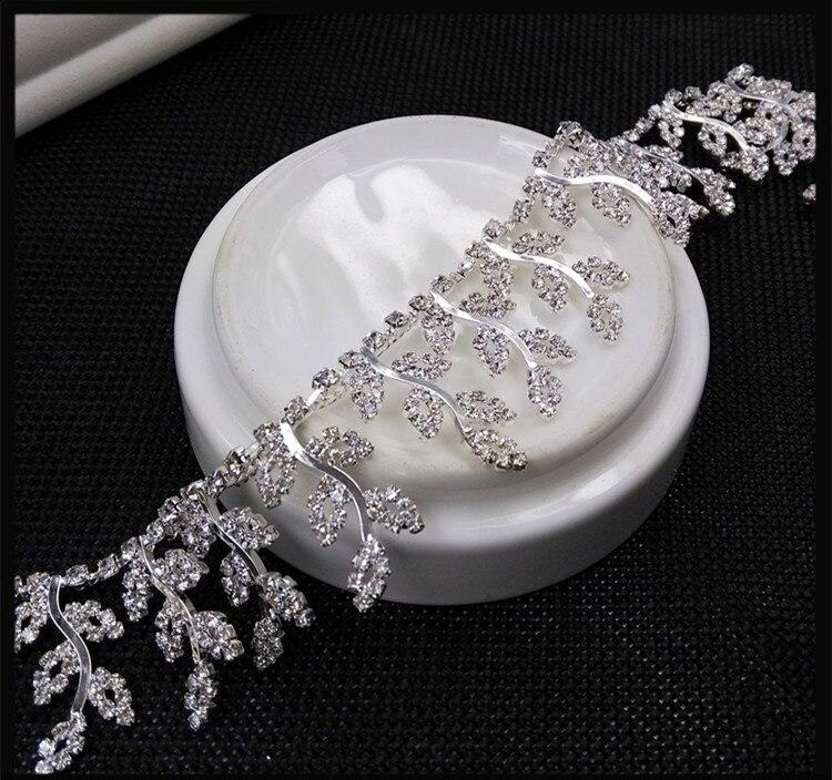 Livraison gratuite argent feuilles gland brillant diamant chaîne de bricolage robe de mariée jupe vison vêtements de scène textiles GRL0413