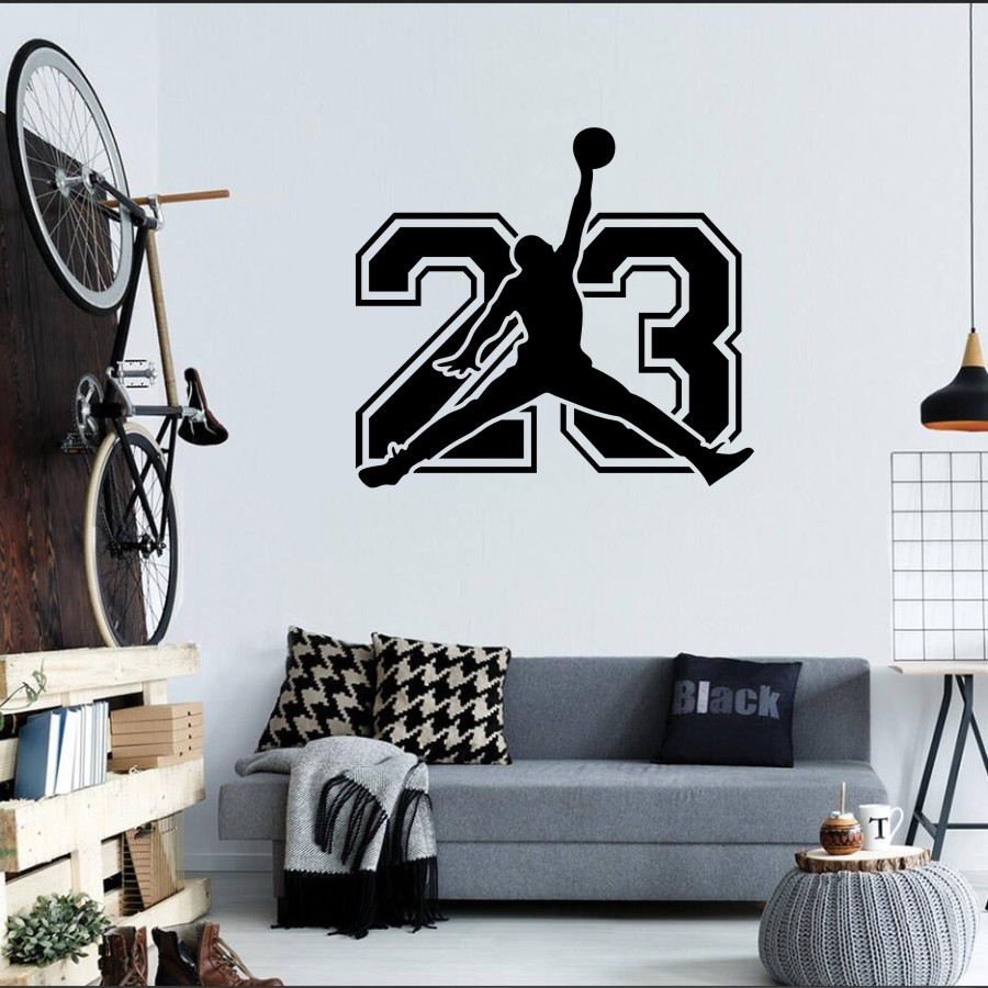 Tremendous Us 5 62 25 Off Michael Jordan Wall Decal Jordan 23 Sign Decal Basketball Jump Man Vinyl Wall Decor J005 In Wall Stickers From Home Garden On Ocoug Best Dining Table And Chair Ideas Images Ocougorg