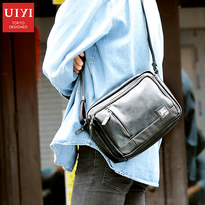UIYI Casual Men's Messenger Bags PVC Shoulder Bag Fashion Men Business Crossbody Bag Travel Handbag Drop Shipping #UYX7056
