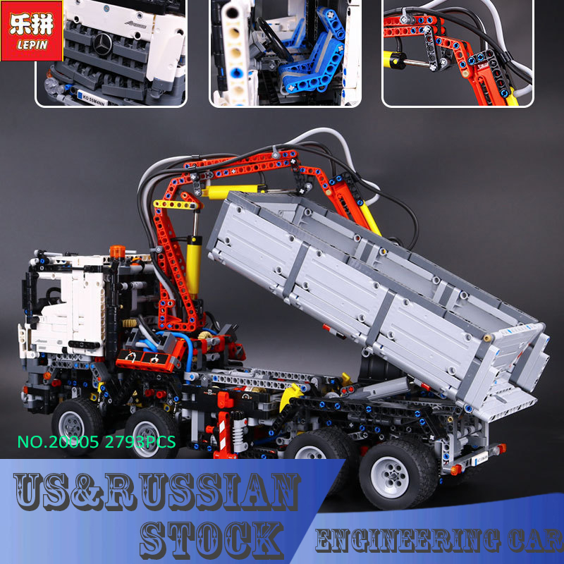 LEPIN 20005 technic series 42023 Arocs Model Building Block Bricks 2793pcs Compatible Whith Decool 3364 new 2793pcs lepin 20005 technic series 42023 arocs model building block bricks compatible with 05007 educational boys toy gift