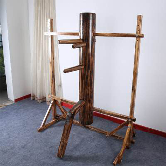 US $195 3 7% OFF|4 colors kungfu solid wood dummies Ip Man training wooden  dummy height adjustable wing chun wooden dummy with frame-in Martial Arts