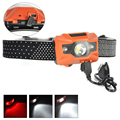 USB Rechargeable Headlamp Outdoor Led Camping Lighting 3LED 3W Operating voltage/5V For fishing, caving, rescue, everyday carry