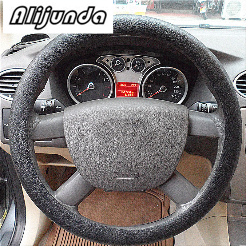 1x Skidproof Odorless Soft Silicon Universal Car Steering Wheel Cover Dark Grey