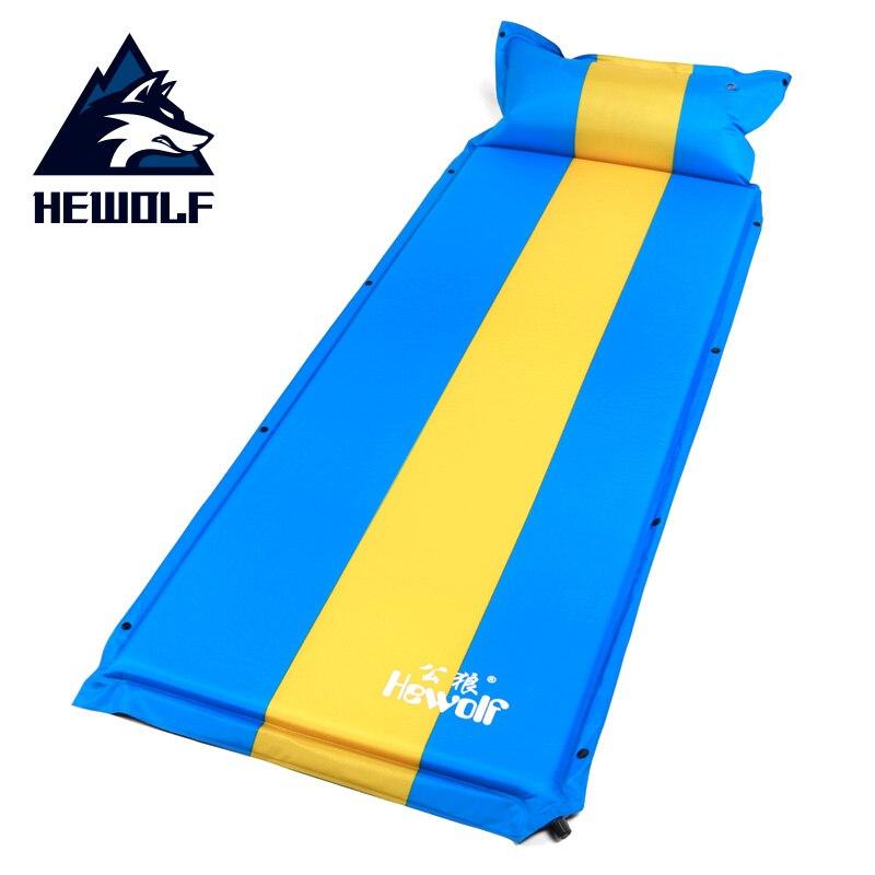 Hewolf tapis de Camping gonflable automatique pour une personne avec oreiller d'air 192x66 cm matelas de tentes de pêche de randonnée en plein Air épaissi