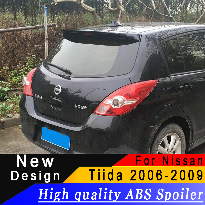 For 2006 to 2019 Nissan Tiida roof spoiler High quality ABS spoiler Primer or any color