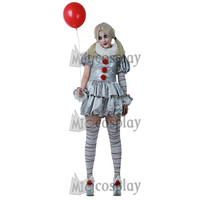 The Dancing Clown Costume Pennywise Women Cosplay Costume for Halloween