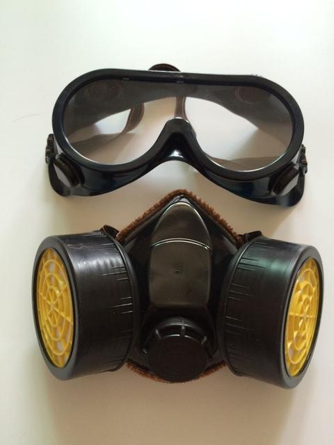 Filtro de protección química respirador máscara de Gas máscara de polvo de pulverización de pintura pesticidas industriales de seguridad protect mask