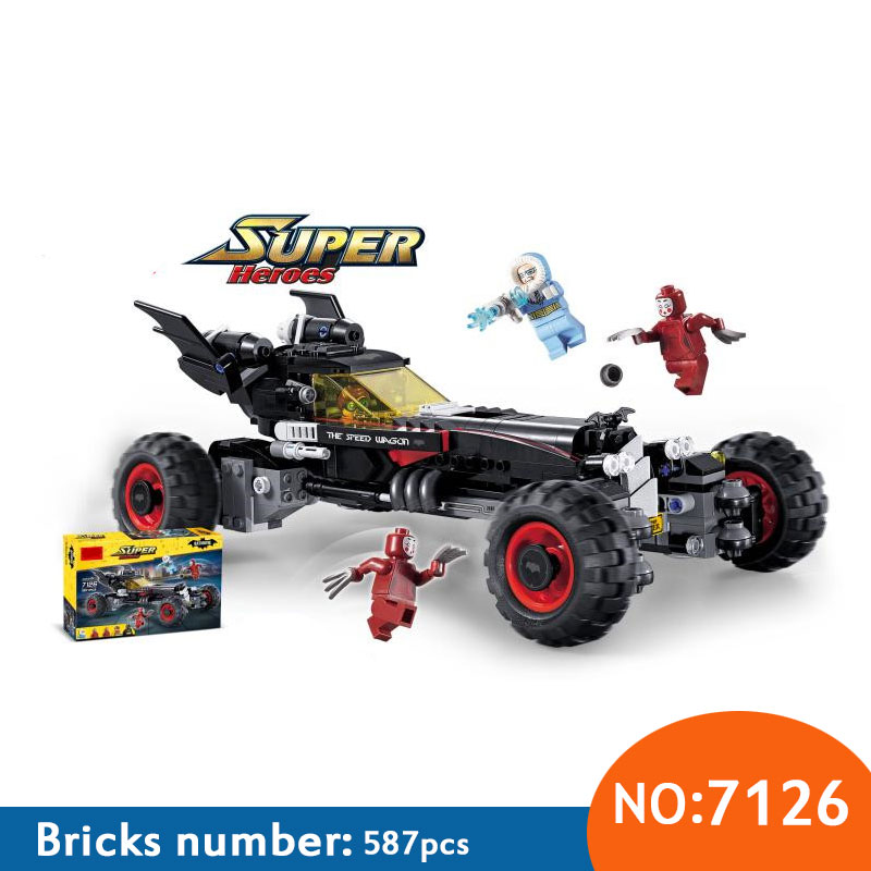 587Pcs 7126 Superhero Figures Batman The Batmobile Model Building Kits Blocks Bricks Toy For Children Gift Compatible With 70905 china brand bricks toy diy building blocks compatible with lego batman movie the batmobile 70905