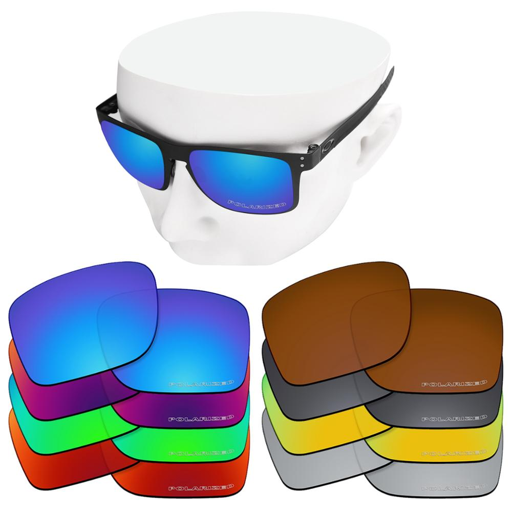 OOWLIT Anti-Scratch Polycarbonate Replacement Lenses For-Oakley Holbrook Metal OO4123 Etched Polarized Sunglasses