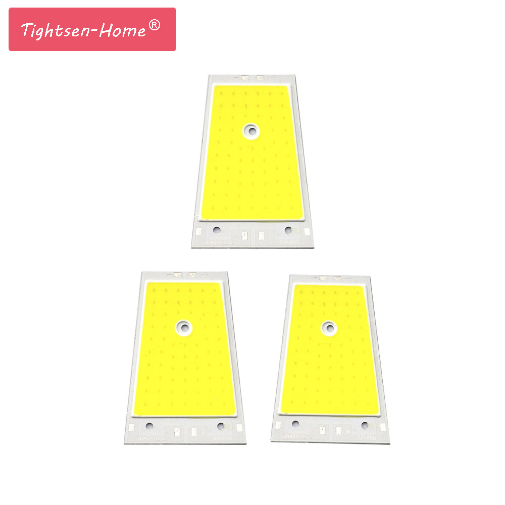 70mmx47mm LED COB Strip Flip Chip High Light Source Module 10W DC6V 6500K White COB Chip Bulb Lamp For Wall Lamp  House Light