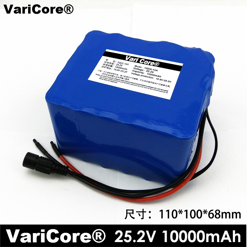 VariCore 24V 10Ah 6S5P 18650 Battery li-ion battery 25.2v 10000mAh Electric bicycle moped /Electric/lithium ion battery pack аккумулятор patriot 12v 1 5 ah bb gsr ni