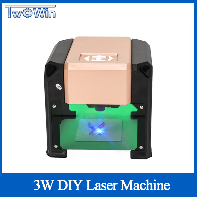3000mw Automatic Type High Speed Laser Engraving Machine USB DIY Carving Handicraft Wood Engraver Logo Printer