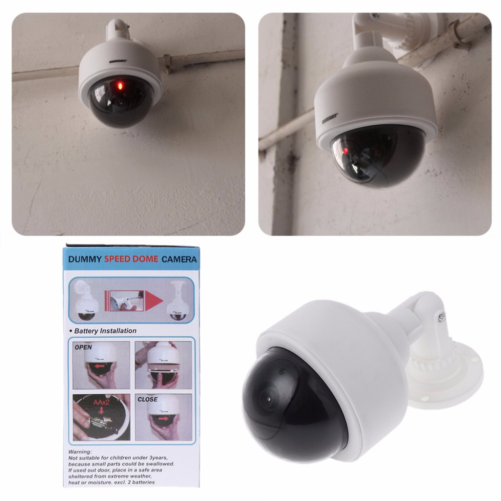 Fake Dummy Outdoor Waterproof Security Surveillance Flash Dome Camera CCTV Video