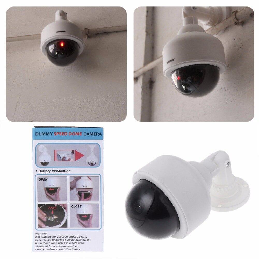 Faux factice extérieur étanche sécurité Surveillance Flash dôme caméra CCTV vidéo