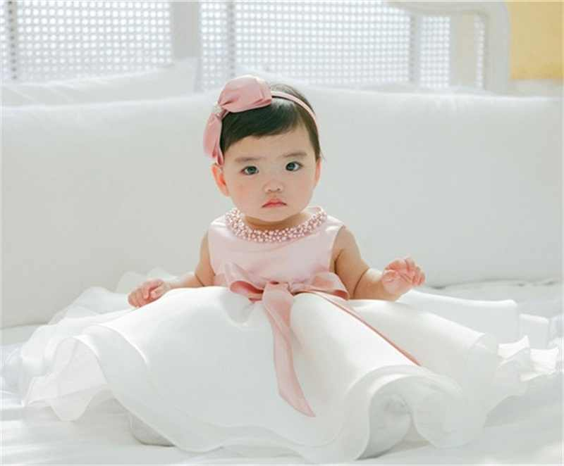 女の赤ちゃん 1 年の誕生日パーティードレス子供服 Beadings 洗礼ドレス洗礼のための新生児